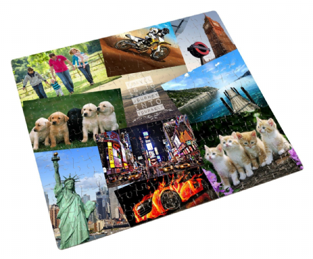 Personalised Collage 252 Piece Jigsaw Puzzle Any Images & Text